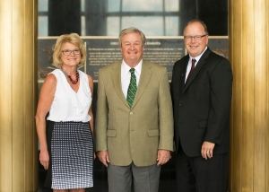 Choice Financial representatives with Governor Jack Dalrymple in Memorial Hall at the State Capitol.